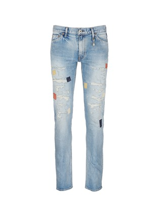 Main View - Click To Enlarge - FDMTL - 'Figure Case Study 201' boro patchwork jeans