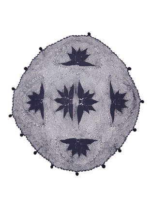 Main View - Click To Enlarge - BAND OF MARTIANS - 'Boho' floral hand crochet knit round blanket