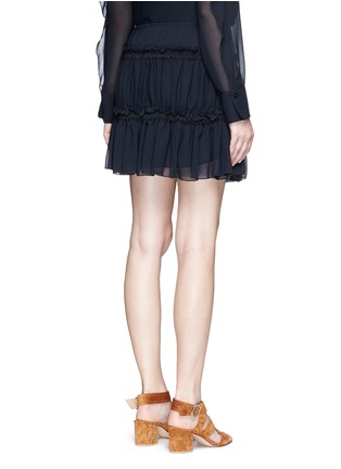 Back View - Click To Enlarge - SEE BY CHLOÉ - Drawstring ruffle tier crepe skirt