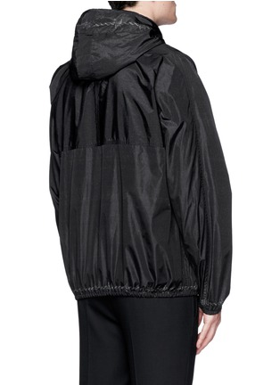 Back View - Click To Enlarge - Givenchy - Barb wire Jesus print windbreaker jacket