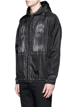 Front View - Click To Enlarge - Givenchy - Barb wire Jesus print windbreaker jacket