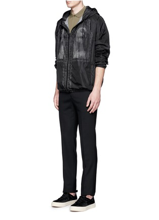 Figure View - Click To Enlarge - Givenchy - Barb wire Jesus print windbreaker jacket