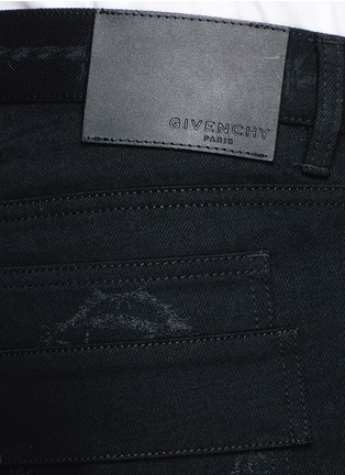 - Givenchy - Barb wire Jesus print slim fit jeans