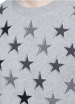 Detail View - Click To Enlarge - Givenchy - Star embroidery cotton sweatshirt