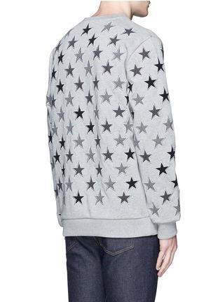 Back View - Click To Enlarge - Givenchy - Star embroidery cotton sweatshirt