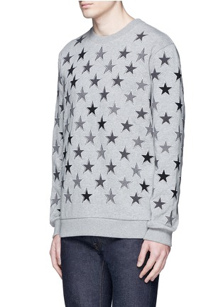 Front View - Click To Enlarge - Givenchy - Star embroidery cotton sweatshirt