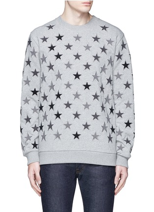 Main View - Click To Enlarge - Givenchy - Star embroidery cotton sweatshirt
