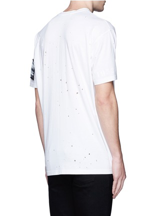 Back View - Click To Enlarge - Givenchy Beauty - Jesus patch distressed cotton T-shirt