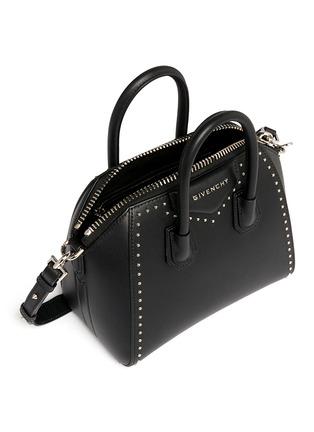 Detail View - Click To Enlarge - Givenchy - 'Antigona' mini stud border leather bag