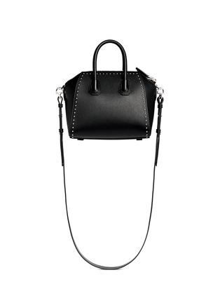 Back View - Click To Enlarge - Givenchy - 'Antigona' mini stud border leather bag