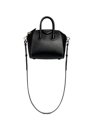 Main View - Click To Enlarge - Givenchy - 'Antigona' mini stud border leather bag