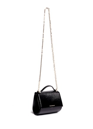 Figure View - Click To Enlarge - Givenchy - 'Pandora Box' mini saffiano patent leather chain bag
