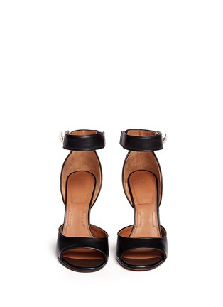 Figure View - Click To Enlarge - Givenchy - Shark tooth turn lock leather sandals