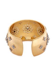 Buccellati Diamond floral silver 18k gold cuff