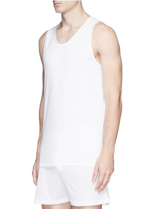 Figure View - Click To Enlarge - ZIMMERLI - 286 Sea Island' cotton tank top