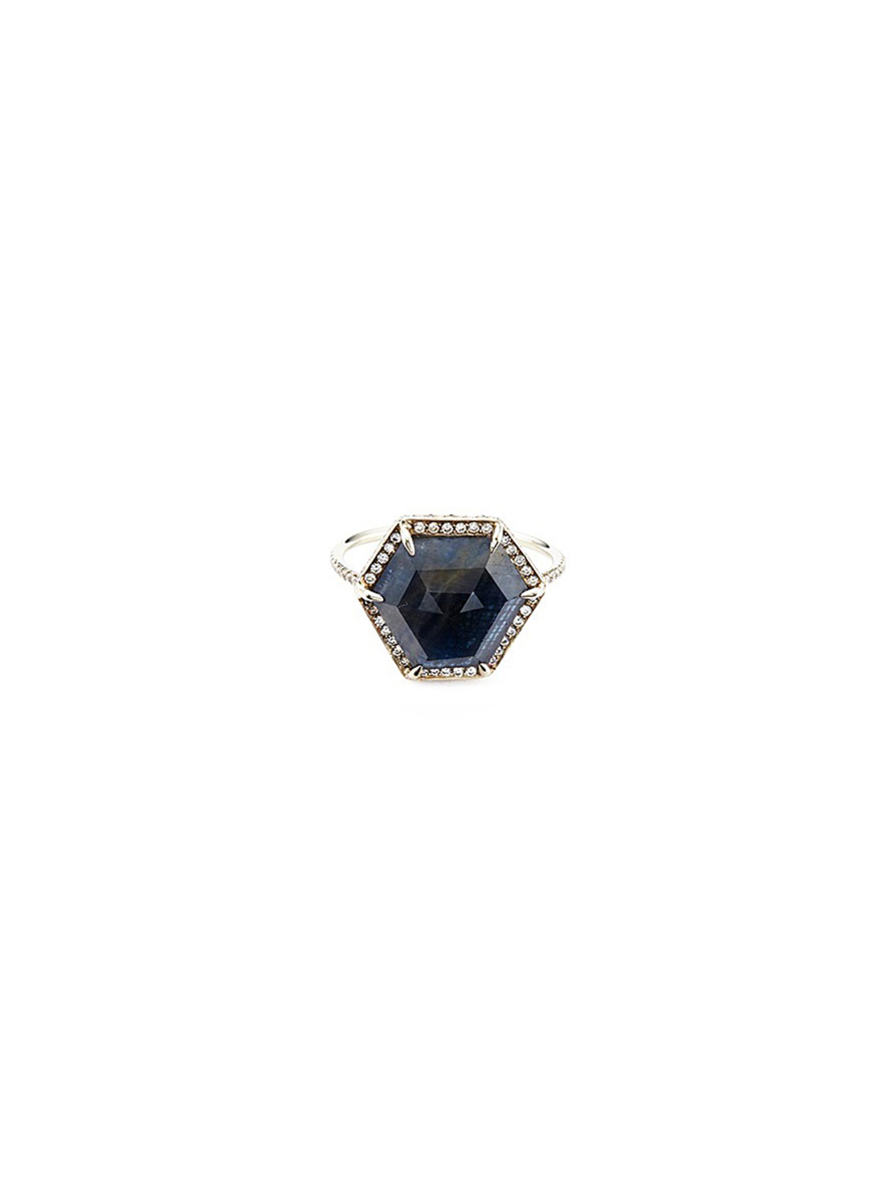 MONIQUE PÉAN 'Atelier' Sapphire18K Recycled White Gold Ring