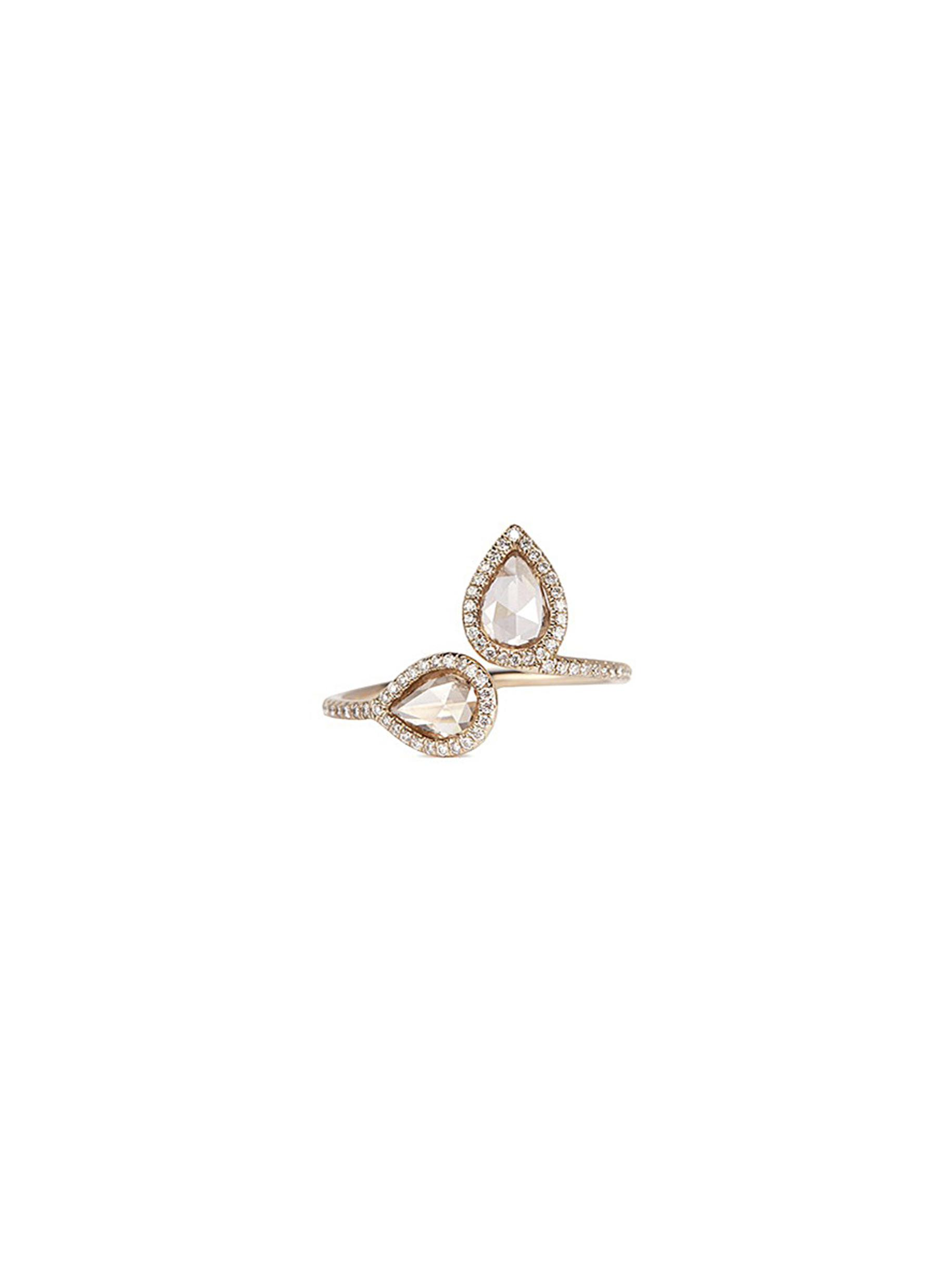 MONIQUE PÉAN 'Atelier North-South' Diamond 18K White Gold Open Ring