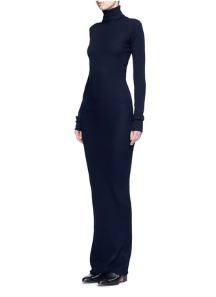 Front View - Click To Enlarge - Stella McCartney - Turtleneck rib knit maxi dress