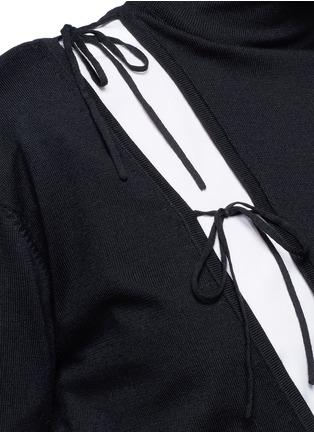 Detail View - Click To Enlarge - Ports 1961 - Asymmetric drawstring split turtleneck sweater