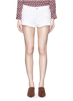 Detail View - Click To Enlarge - 3X1 - 'WM5' cutoff denim shorts