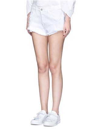 Front View - Click To Enlarge - 3X1 - 'WM5' cutoff denim shorts