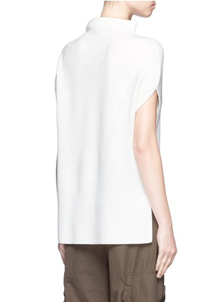 Back View - Click To Enlarge - Vince - Wool-cashmere sleeveless sweater