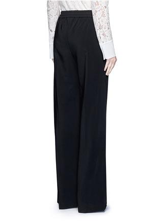 Back View - Click To Enlarge - LANVIN - Contrast pocket stripe elastic twill pants
