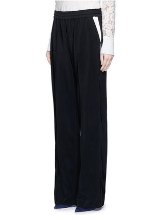 Front View - Click To Enlarge - LANVIN - Contrast pocket stripe elastic twill pants