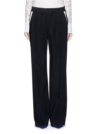 Main View - Click To Enlarge - LANVIN - Contrast pocket stripe elastic twill pants