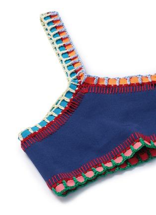 Detail View - Click To Enlarge - Kiini - 'Tasmin' crochet trim one-shoulder bikini top