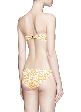 Back View - Click To Enlarge - Marysia - 'Antibes' hibiscus print scalloped bow bandeau top