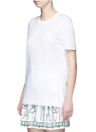 Front View - Click To Enlarge - Dolce & Gabbana - 'Ti Amo' lace slogan T-shirt