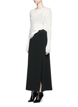 Figure View - Click To Enlarge - Helmut Lang - Frayed wool knit sweater