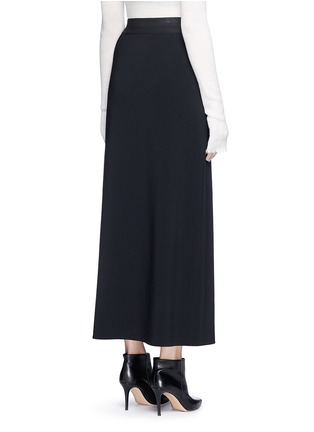 Back View - Click To Enlarge - HELMUT LANG - Side drape stretch maxi skirt