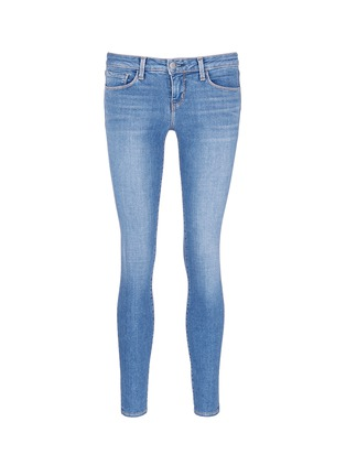 Main View - Click To Enlarge - L'AGENCE - The Chantal' skinny denim ankle grazer pants