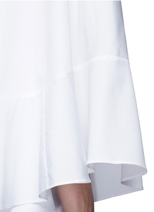 Detail View - Click To Enlarge - Valentino - Cape sleeve poplin shirt