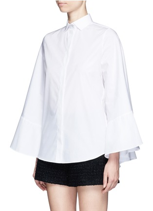 Front View - Click To Enlarge - Valentino - Cape sleeve poplin shirt