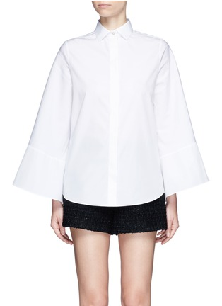 Main View - Click To Enlarge - Valentino - Cape sleeve poplin shirt