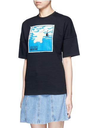 Front View - Click To Enlarge - GROUND ZERO - Nirvana CD cover embroidery T-shirt