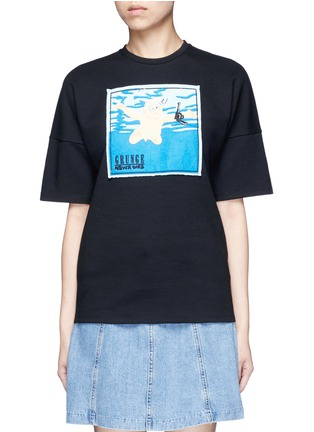 Main View - Click To Enlarge - GROUND ZERO - Nirvana CD cover embroidery T-shirt