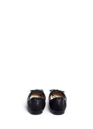 Back View - Click To Enlarge - Sam Edelman - 'Felicia' faux leather kids ballet flats