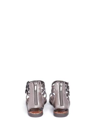 Back View - Click To Enlarge - SAM EDELMAN - 'Amber' stud snakeskin embossed kids sandals