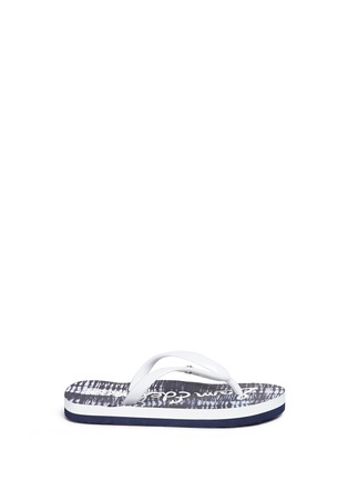 Main View - Click To Enlarge - Sam Edelman - 'Mandy' abstract marble print kids flip flops