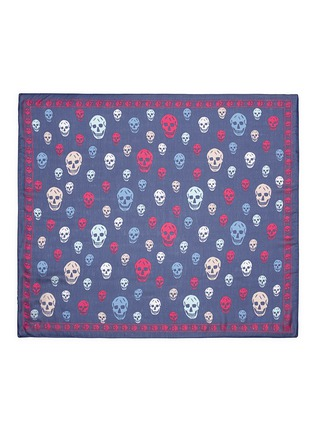 Main View - Click To Enlarge - Alexander McQueen - Classic skull print silk scarf