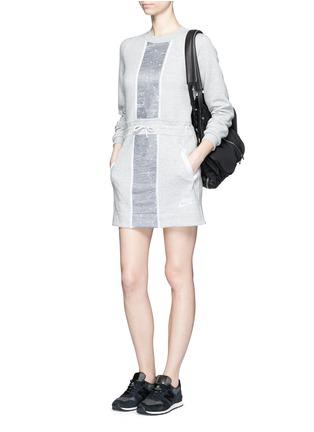 Figure View - Click To Enlarge - NIKE - 'Tech Fleece Splatter' dress