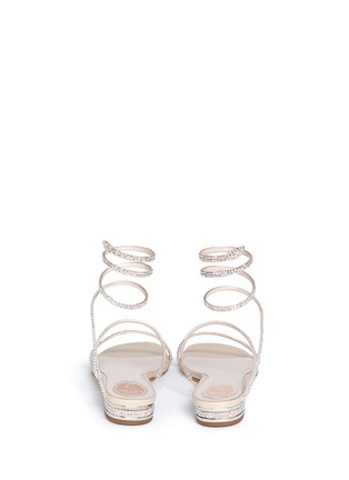 Back View - Click To Enlarge - René Caovilla - 'Snake' strass pavé spring coil sandals