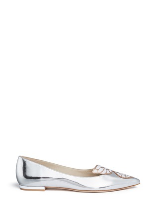 Main View - Click To Enlarge - Sophia Webster - Bibi Butterfly' wing appliqué mirror leather flats