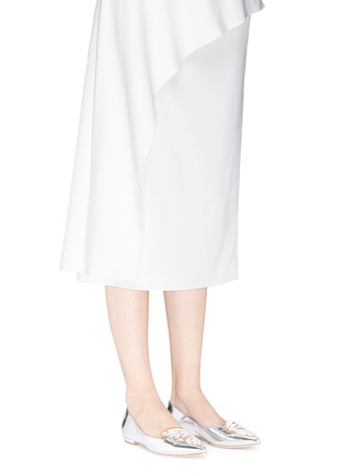 Figure View - Click To Enlarge - Sophia Webster - Bibi Butterfly' wing appliqué mirror leather flats