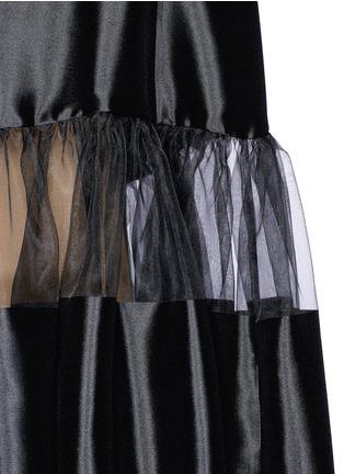 Detail View - Click To Enlarge - Ms MIN - Stripe gathered waist silk dress
