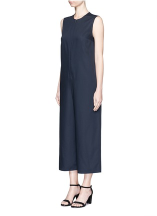 Front View - Click To Enlarge - Ms MIN - Raw edge wool sleeveless jumpsuit